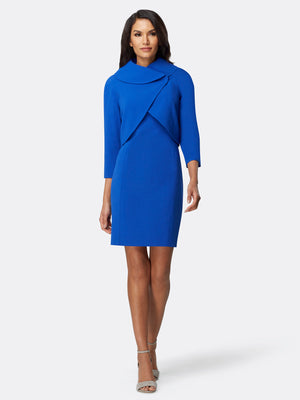 Fold-over Collar Jacket Dress