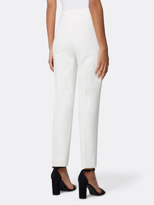 Back View of Women's Luxury White Slim Leg Dress Pant by Tahari ASL