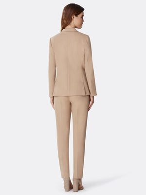 Peak Lapel Bi-Stretch Pantsuit