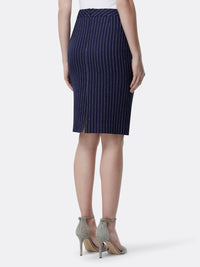 Back View of Women's Designer Luxury Pencil Skirt by Tahari ASL