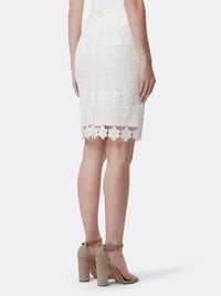Crochet Lace Pencil Skirt