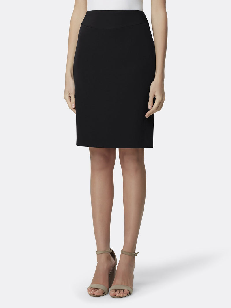 Front View of the Black Pencil Replenishment Skirt Black