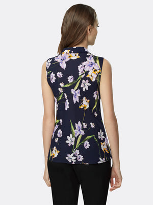 Double Tie Floral Georgette Top