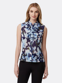Sleeveless Double Ruffle Georgette Blouse