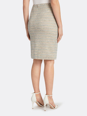 Metallic Bouclé Knit Skirt