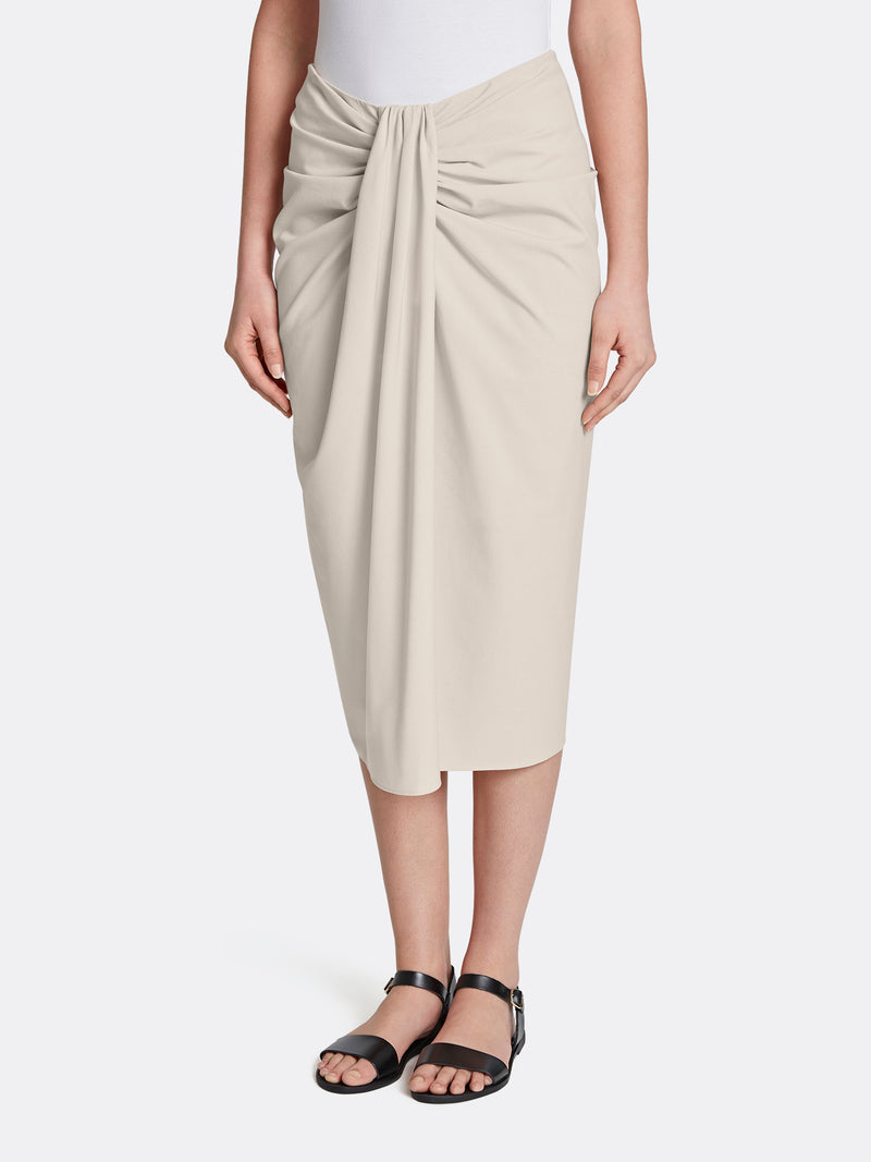 Bi-Stretch Twist Front Skirt
