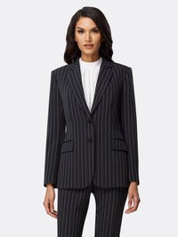 Wide Chalk Stripe Jacket