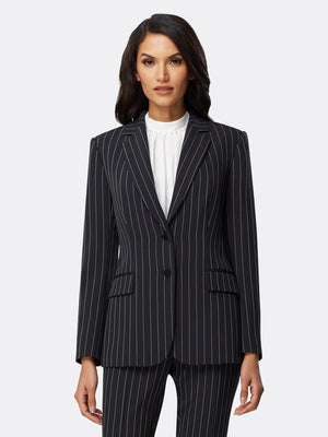 Black White Chalk Stripe