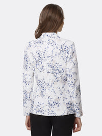 Back View of Women's Luxury One Button Jacket Peak Lapel by Tahari ASL