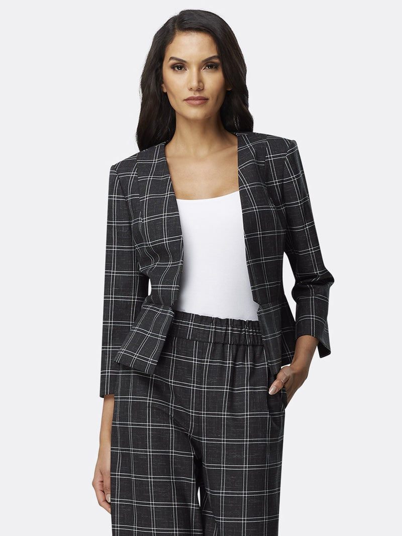Black White Grid Plaid