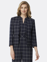 Navy White Grid Plaid