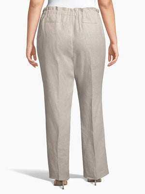 Back View of Women's Luxury Dress Pant with Self Tie Wide Led by Tahari ASL