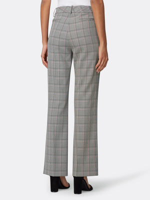 Plaid Extend-Tab Trousers