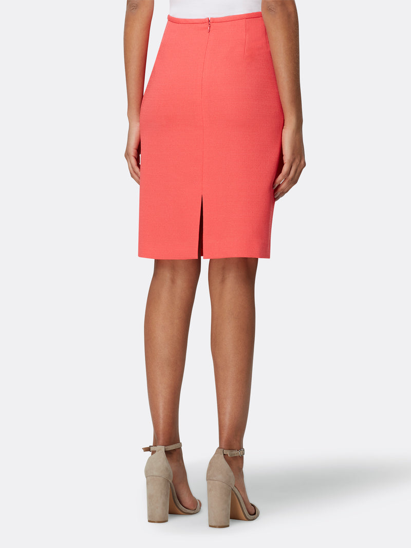 Textured Stretch Pencil Skirt