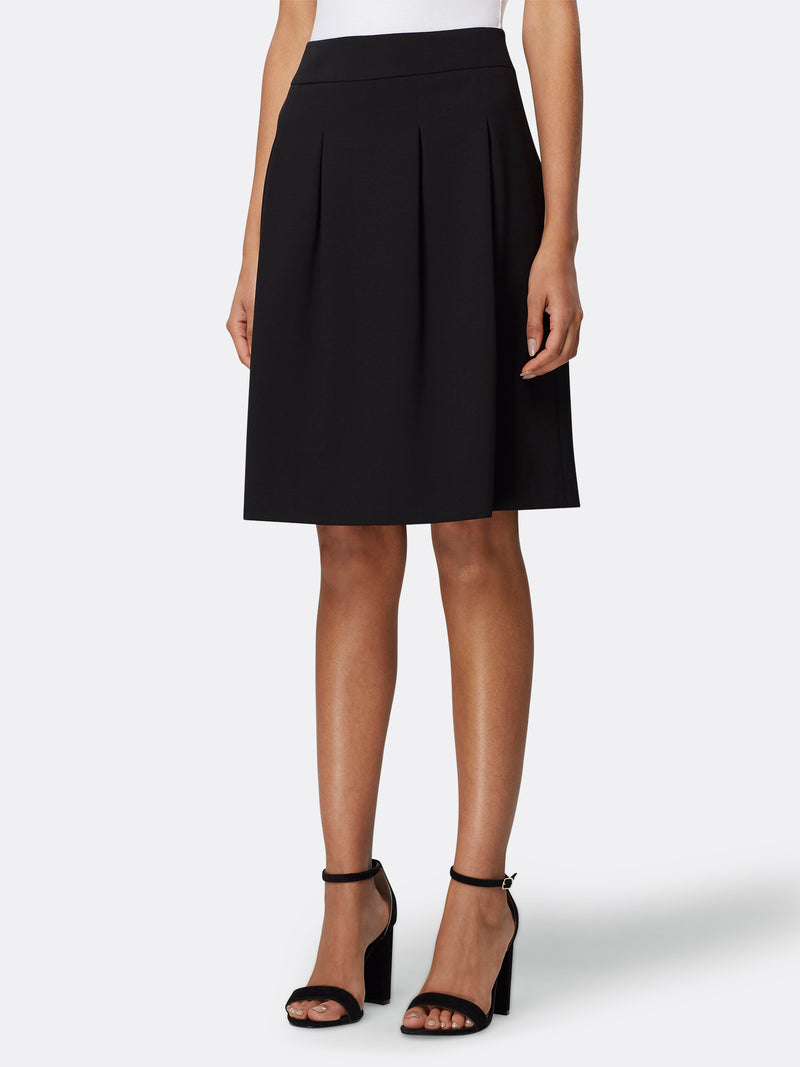 Double-Weave Inverted Pleat Skirt