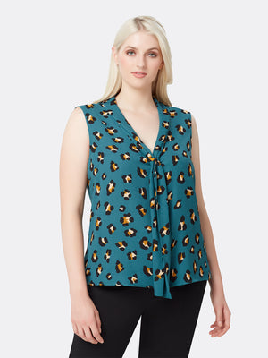 Leopard Double Sash Top