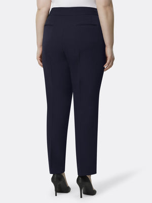 Back View of Tahari ASL's Straight Leg Replacement Pant in Navy NAVY