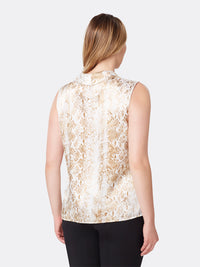 Snake Print Double-Sash Top