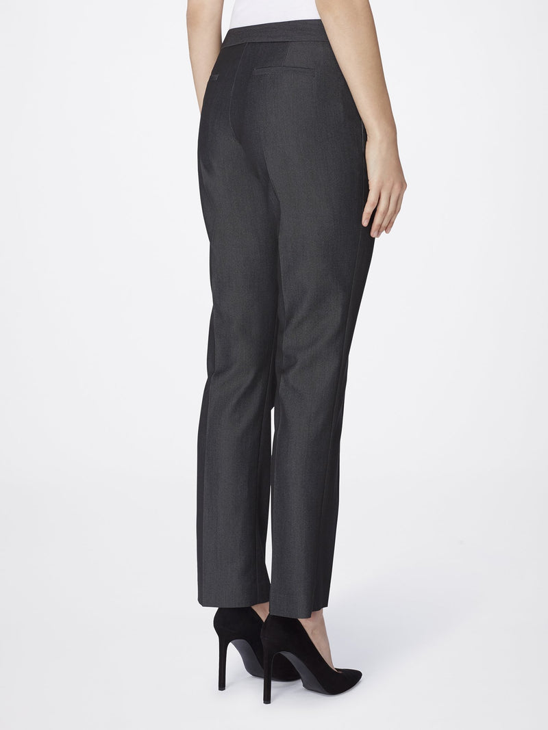 Back View of Women's Luxury Dress Pant with Slant Pocket by Tahari ASL DARK GREY