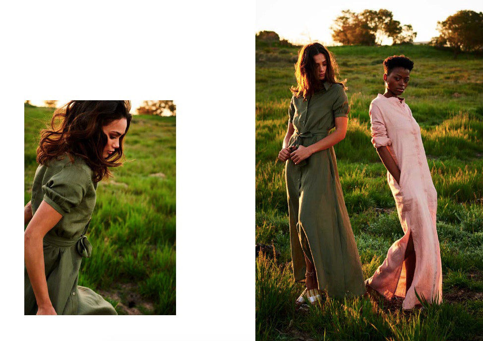 Lamu Dress in green - Sundowner Dress in dusty pink