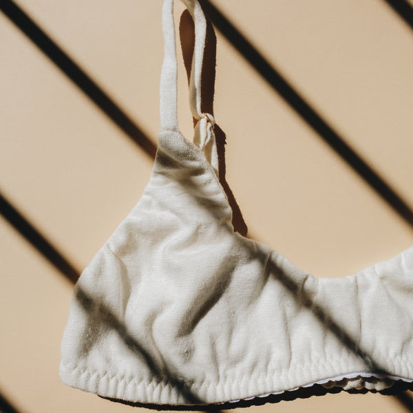 Hemp Organic Cotton Bralette | Off White
