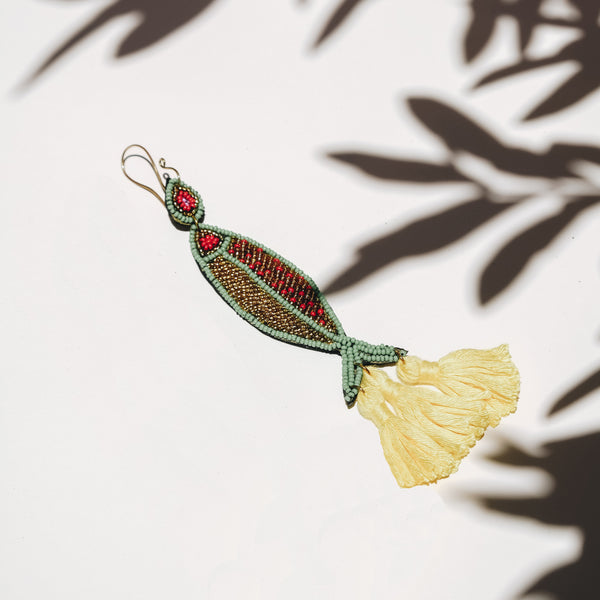 Beaded Earring | Fish