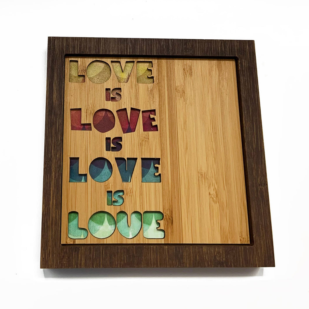 Citizen Ruth - Love is Love Bamboo Wall Art