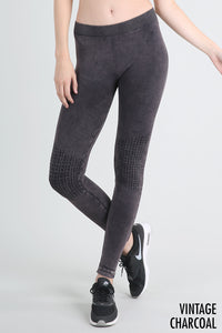 Shirred Knee Legging