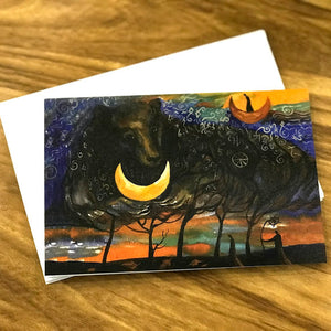 Note cards (over the moon)