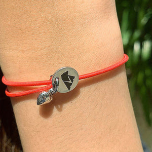 Animals Asia cord bracelet (red)