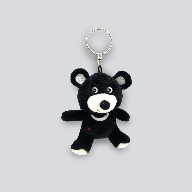 Plush moon bear key ring