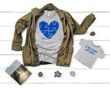 Autism Awareness Distressed Puzzle Heart Shirt