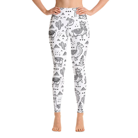 Llamaste Llama & Cactus | Workout Yoga Leggings