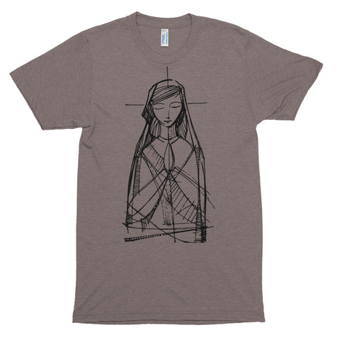 Mary in Prayer, Lengthy Comfort T-shirt