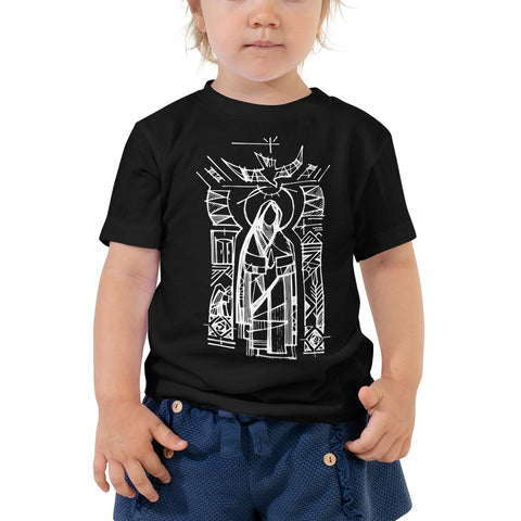 Aztec Virgin Mary w/ Prayer on Back, Toddler Comfort Tee