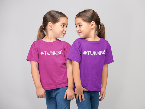 #TWINNING Trendy Hashtag, Ages 2-6 T-shirt