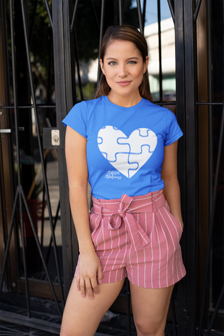 Autism Awareness Puzzle Heart, Comfort Tee