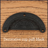 Decorative black cup pull