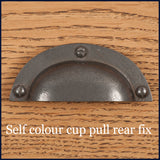 self colour cup pull rear fix