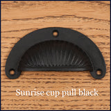 sunrise black cup pull