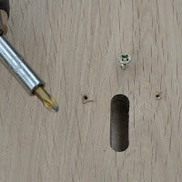 Making hole for fitting Suffolk Latch handle