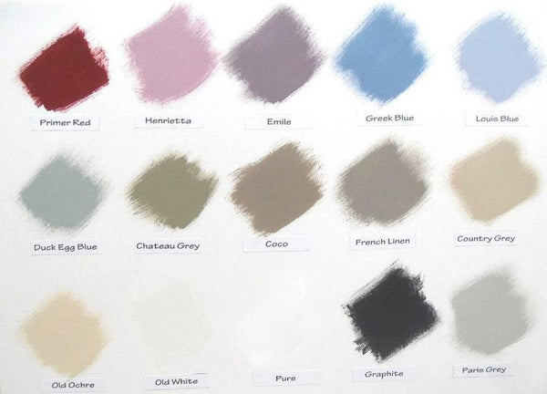 shabby chic collour paints