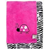 Trend Lab Zahara Zebra Framed Receiving Blanket, Pink By Trend Lab