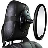 J Is For Jeep Oval Rear Facing View Infant Baby Mirror For Car Black