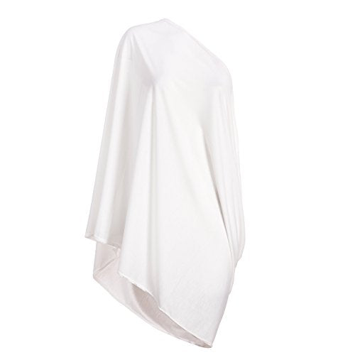 Infinity Nursing Scarf And Cover For Breastfeeding By Consider It Maid  Soft, Lightweight & Breathable Material  Maximum Privacy  Modern, Stylish Design  White