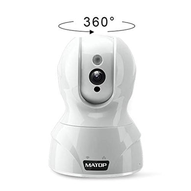 Baby Monitor Camera Wifi Security Camera - Hd Cloud Ip Camera Pan Tilt Control Wifi/Ethernet Two-Way Audio Night Vision Home Security Camera System Free App (White, 720P)