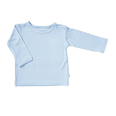 Boody Body Baby Ecowear Long Sleeve Top - Soft Cooling Infant Shirt Made From Natural Organic Bamboo - Soft Breathable Eco Fashion For Sensitive Skin - Sky Blue, 12-18 Months