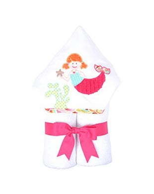3 Marthas Boutique Everykid Hooded Towel (Pink - Merry Mermaids)