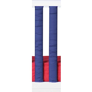 Pure Safety Vertical Crib Liners In Red/Navy Blue