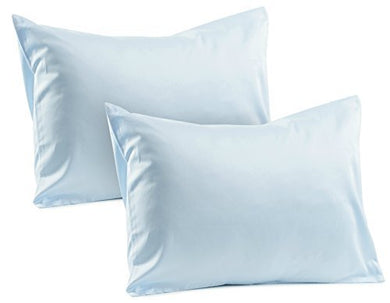 2 Blue Toddler Pillowcases 100% Cotton Soft Sateen Toddler Pillowcase 400 Tc Pillowcase Covers 14 X19  Or 13 X18  Toddler Baby Travel Pillows Naturally Hypoallergenic Envelope Style Blue Pillow Cases